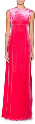 Valentino Sleeveless A-Line Velvet Evening Gown with Cutouts