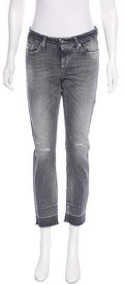 Cambio Mid-Rise Straight-Leg Jeans