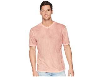 True Grit Topanga Combed Cotton Hand Treated Wash Short Sleeve V-Neck Tee Men's T Shirt