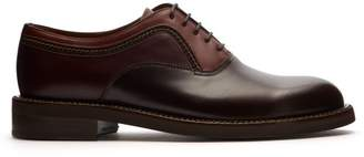 Lanvin Leather Oxford Shoes - Mens - Brown Multi