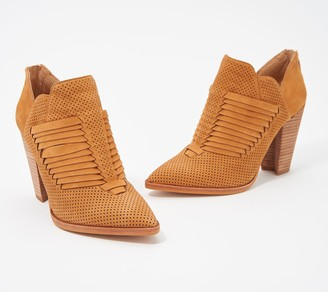 Vince Camuto Leather Western Detail Booties - Levana