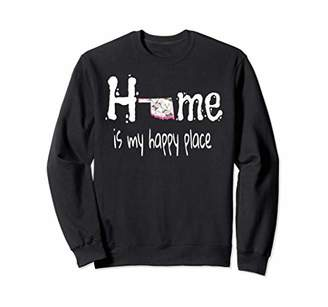 Home Is My Happy Place Oklahoma Floral Sweatshirt