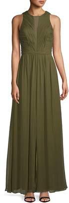 Vera Wang Women's Sleeveless Chiffon Silk Gown