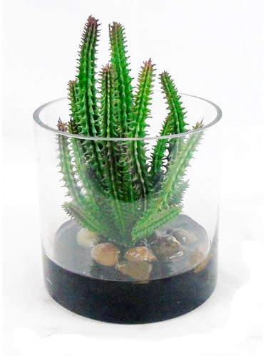 Creative Branch Faux Finger Cactus Plant in Decorative Vase