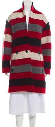 Etoile Isabel Marant Knee-Length Stripe Coat