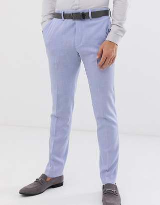 Hatch Asos Design ASOS DESIGN wedding skinny suit pants in lilac cross