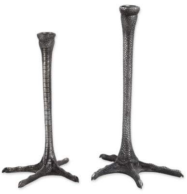 Ren-Wil Thornby Metal Candle Holders in Black (Set of 2)