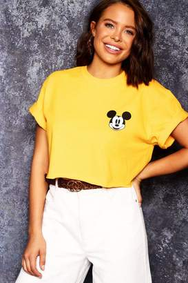 boohoo Disney Mickey Crop Tee