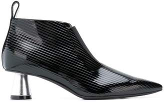 Emilio Pucci ribbed pointed ankle boots