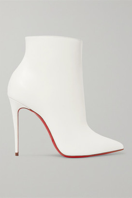 Christian Louboutin So Kate 100 Leather Ankle Boots - White
