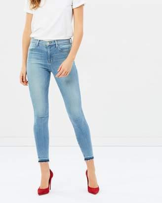 J Brand Alana High-Rise Cropped Raw Hem Jeans
