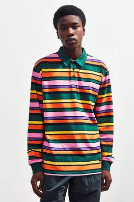 Lazy Oaf Stripey Long Sleeve Polo Shirt
