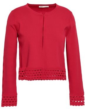 Maje Crochet-trimmed Knitted Cardigan