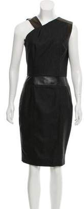 Sophie Theallet Leather-Accented Wool Dress