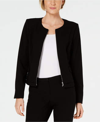 Calvin Klein Zip-Up Modern Peplum Jacket