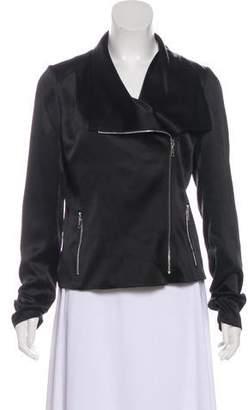 Lafayette 148 Silk Satin Jacket