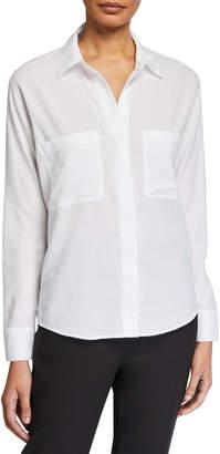 Vince Long-Sleeve Cotton Blouse