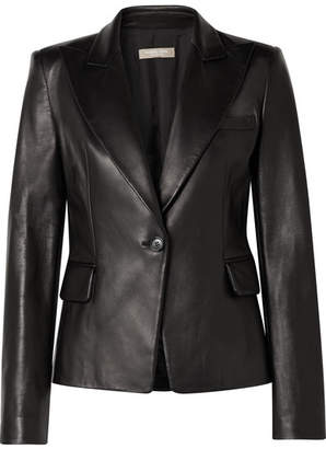Michael Kors Leather Blazer - Black