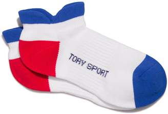Tory Sport PERFORMANCE COMPRESSION COLOR-BLOCK SOCKS