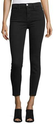 Current/Elliott The Stiletto High-Waist Ankle Jeans, Jet Black