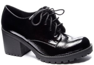 Chinese Laundry Lisette Black Heel Oxford Loafers Women's Shoes