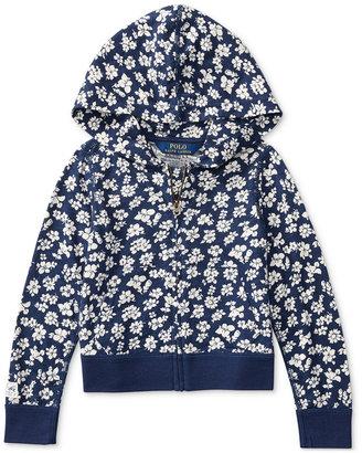 Ralph Lauren Floral-Print Full-Zip Hoodie, Toddler & Little Girls (2T-6X) $39.50 thestylecure.com