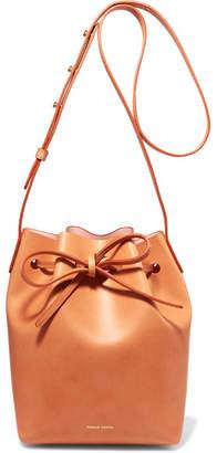 Mansur Gavriel - Mini Leather Bucket Bag - Camel $495 thestylecure.com