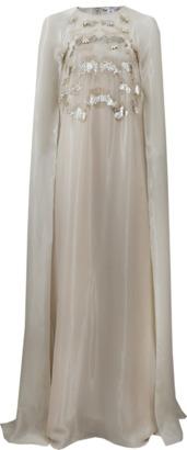 OSCAR DE LA RENTA Embellished Caftan Gown $5,590 thestylecure.com