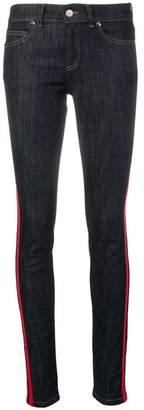RED Valentino striped trim skinny jeans
