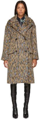 Kenzo Beige Leopard Coat