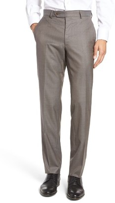 Men's Peter Millar Multi Season Flat Front Merino Wool Trousers $298 thestylecure.com
