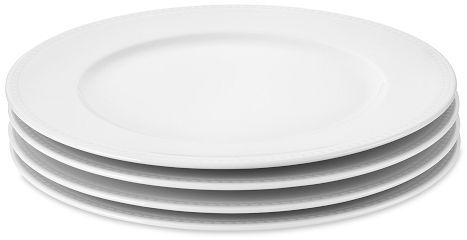 Apilco Beaded Hemstitch Dinner Plates, Set of 4