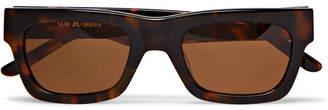 Sun Buddies Greta Square-Frame Tortoiseshell Acetate Sunglasses