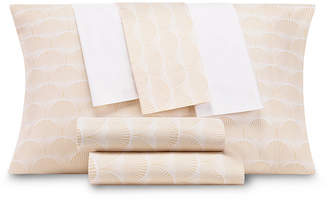 Aq Textiles Closeout! Modernist Printed Shell 6-Pc Queen Sheet Set, 300 Thread Count Cotton Blend Bedding