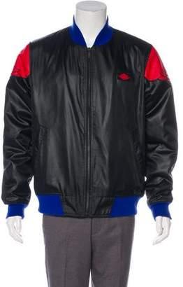 Nike Jordan Leather Trimmed Bomber Jacket