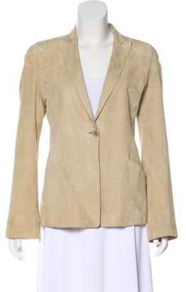 Armani Collezioni Structured Suede Jacket