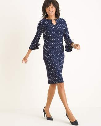 Chico's Chicos Polka Dot Bell-Sleeve Dress