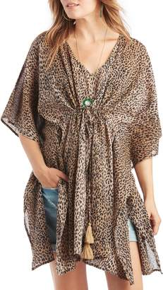 Sole Society Leopard Print Cotton Tunic