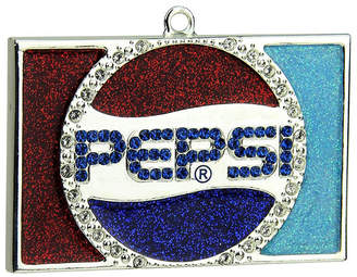Asstd National Brand 3 Decorative Silver Plated Pepsi Globe Logo Christmas Ornament With European Crystals