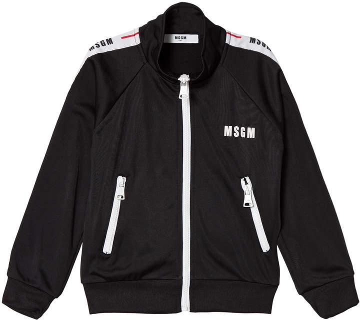 Msgm Black Logo Track Jacket