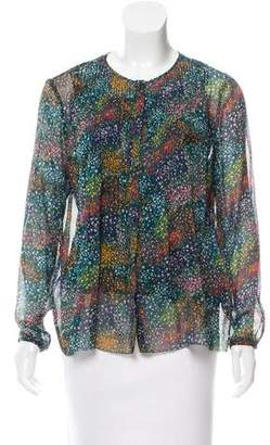Band Of Outsiders Silk Floral Top