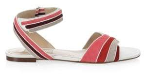 Valentino Rainbow Flat Leather Sandals