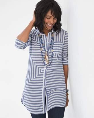 Splice-Striped Tunic