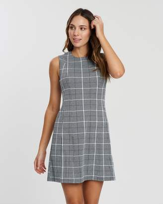 Dorothy Perkins Jersey Fit-and-Flare Prince of Wales Dress