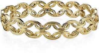 JCPenney 1928 Jewelry Gold-Tone Link Bangle Bracelet