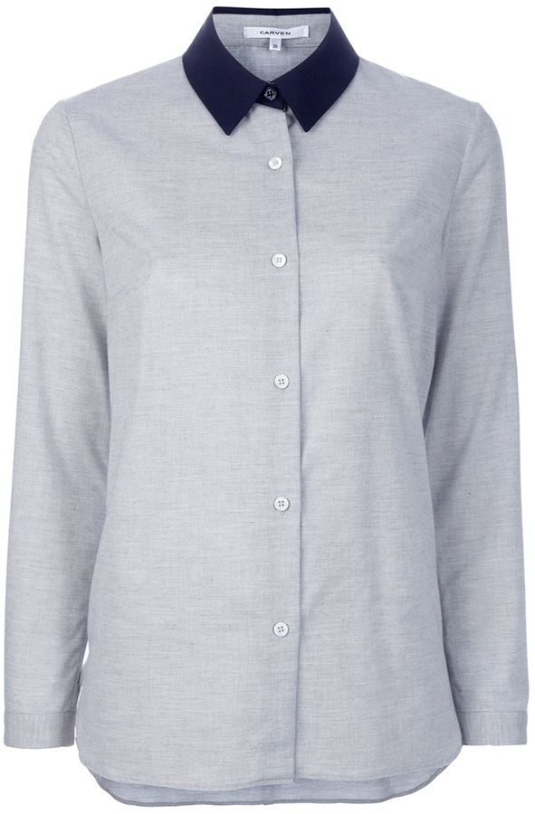Carven Contrast collar shirt