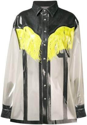 Maison Margiela sheer western shirt