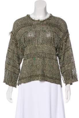 Isabel Marant Linen-Blend Knit Top