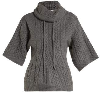 Stella Mccartney - Cable Knit Sweater - Womens - Grey