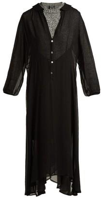Junya Watanabe Chiffon Layer Wool Dress - Womens - Cream Multi